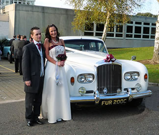 wedding car hire vintage